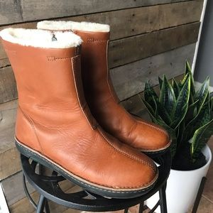 PoloSport shearling leather boot (fit: 8/8.5)